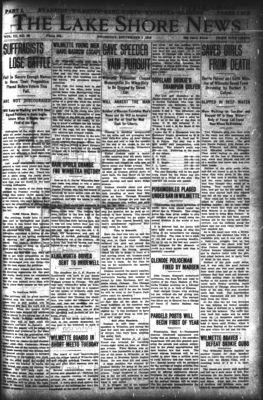 Lake Shore News (Wilmette, Illinois), 5 Sep 1912