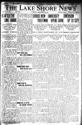 Lake Shore News (Wilmette, Illinois), 19 Sep 1912