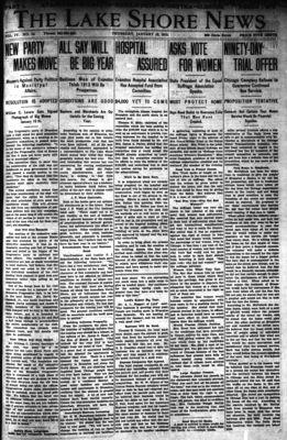 Lake Shore News (Wilmette, Illinois), 16 Jan 1913