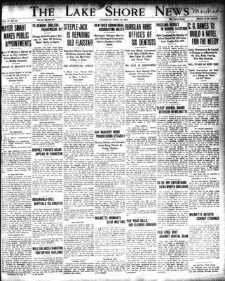 Lake Shore News (Wilmette, Illinois), 24 Apr 1913