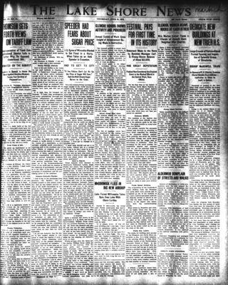 Lake Shore News (Wilmette, Illinois), 12 Jun 1913