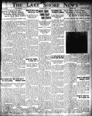 Lake Shore News (Wilmette, Illinois), 10 Jul 1913