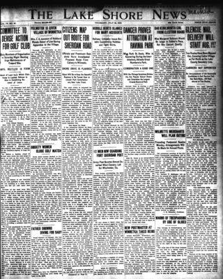 Lake Shore News (Wilmette, Illinois), 24 Jul 1913