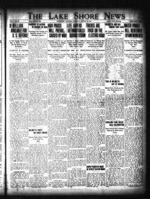 Lake Shore News (Wilmette, Illinois), 13 Aug 1914