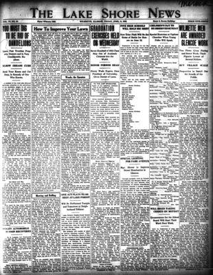 Lake Shore News (Wilmette, Illinois), 11 Jun 1915