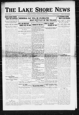 Lake Shore News (Wilmette, Illinois), 23 May 1918