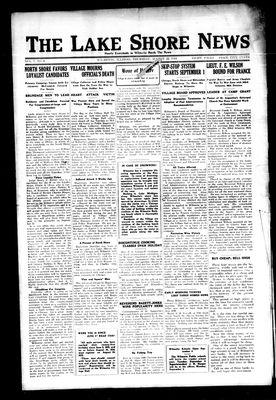 Lake Shore News (Wilmette, Illinois), 22 Aug 1918