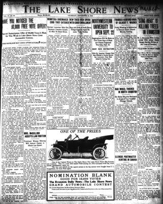 Lake Shore News (Wilmette, Illinois), 18 Sep 1920
