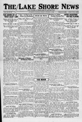 Lake Shore News (Wilmette, Illinois), 15 Oct 1920