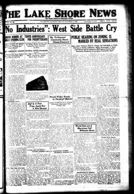 Lake Shore News (Wilmette, Illinois), 7 Oct 1921
