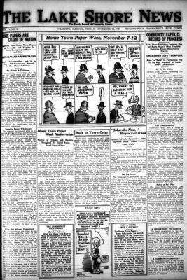 Lake Shore News (Wilmette, Illinois), 11 Nov 1921