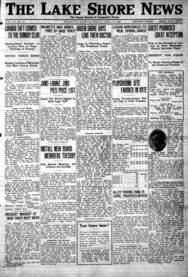 Lake Shore News (Wilmette, Illinois), 21 Apr 1922