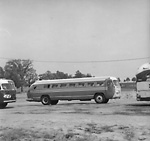 GRAY COACH LINES, bus #1472 or #1478 at Bus Sales of Canada depot, Newmarket,             Ont. (Newmarket Coach Lines garage)