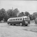 NEWMARKET COACH LINES, bus #32, at Newmarket Coach Lines garage