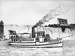 "Steamer ""Maid of the Mist"" (American),   1892 (Niagara River)"
