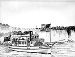 "Steamer ""Maid of the Mist"" (Canadian), 1884 (Niagara River)"