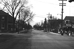 EIGHTH AVENUE (Woodbridge), looking north across Pine St.
