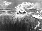 The American Steamer Burnt, & Forc'd into the Tremendous Falls of             Niagara