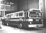 WEST YORK COACH LINES, bus #470, at T.T.C. Parkdale Garage, Sorauren Ave., n.e.             cor. Wabash Ave.