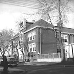 PAPE AVE. PUBLIC SCHOOL, Pape Ave., w. side, betw. Langley & Riverdale             Aves.; looking w. along Langley Ave. from Pape Ave.