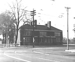 PAPE AVE. PUBLIC SCHOOL, Pape Ave., w. side, betw. Langley & Riverdale             Aves.; looking s.w. showing north front on Riverdale Ave.