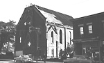 PARLIAMENT ST. METHODIST (UNITED) CHURCH, Parliament St., s.e. cor. Oak St.;             during demolition.