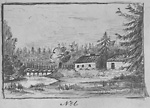 Scadding's House and Don River (Toronto), c. 1795.