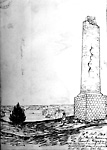 General Brock's Monument after the Gun Powder Blast, Queenston, Ontario