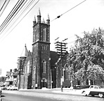 BLOOR ST. PRESBYTERIAN (UNITED) CHURCH (opened 1892), Bloor St. W., n.w. cor.             Huron St.