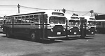 T.T.C., bus #1508, at Sherbourne Garage; looking n.e.