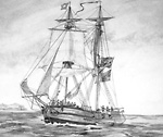 "Prize Brig ""Adams"" (Lake Erie, Ontario), 1812."