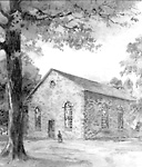 """Old Stone Church"", St. Andrew's Presbyterian Church, Beaverton, Ontario, 1908?"