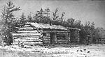 Log Shanty near Gravenhurst, Muskoka (Ontario).