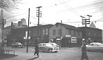 QUEEN ST. W., YONGE TO SIMCOE STS., s.e. cor. Simcoe St., showing Richard             Harper's house on corner.
