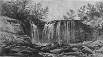 Falls on the Indian Creek, Owen Sound (Sarawak Township, Ontario)