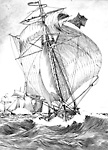 """The """"Governor Simcoe"""", Intercepted by the American Fleet, off Kingston             (Ontario), 10 November 1812."""