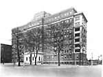 TORONTO GENERAL HOSPITAL (opened 1913), College St., s. side, betw. Elizabeth             St. & University Ave.; Private Patients' Pavilion, University Ave., n.e. cor.             Gerrard St. W.