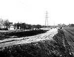 GARDINER EXPRESSWAY, looking w. from Dowling Ave., during construction.