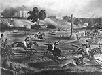 Grand Military Steeple Chase at London, Canada West (Ontario), 9th May 1843.