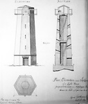 Plan, Elevation and Section of a Light House Proposed to be Erected on             Mississauga Point (Niagara-on-the-Lake, Ontario), 1804.