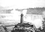 Terrapin Tower, Niagara Falls, 1854.