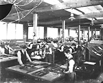 COPELAND-CHATTERSON COMPANY, loose-leaf systems factory; Interior, composing             room.