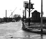 MOBERLEY AVE., looking n. across C.N.R. tracks s. of Aldergrove Ave.