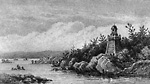Lighthouse in the Thousand Islands, St. Lawrence River (Ontario?)