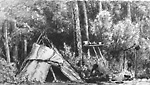 Birch Bark Wigwam and Chippewa Indians, Rama Indian Reserve (Ontario)