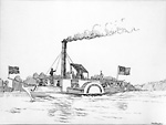 "Steamer ""Sir John Colborne"", 1831 (Lake Simcoe, Ontario)"