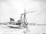 "Steamer ""Beaver"", 1845 (Lake Simcoe, Ontario)"