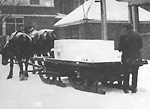 SLEIGH, delivering ice in Parkdale.