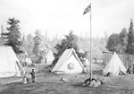 Camp at McVicars Creek (Thunder Bay, Ontario; Red River Expedition, July 1870)