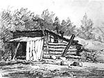 Log Shanty (Vespra, Ontario?)